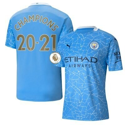 Manchester City Home EPL CHAMPIONS Shirt 20-21