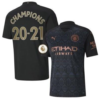 Manchester City Away EPL CHAMPIONS Shirt 20-21
