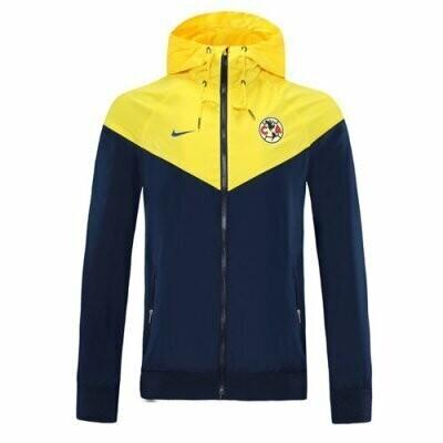 Club American Yellow&Navy Windrunner Hoodie Jacket 20-21