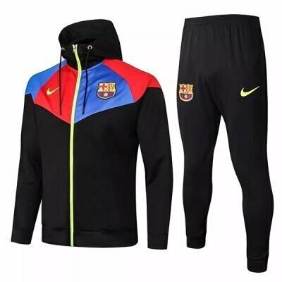Barcelona Black Training Hoodie Jacket Kit 20-21