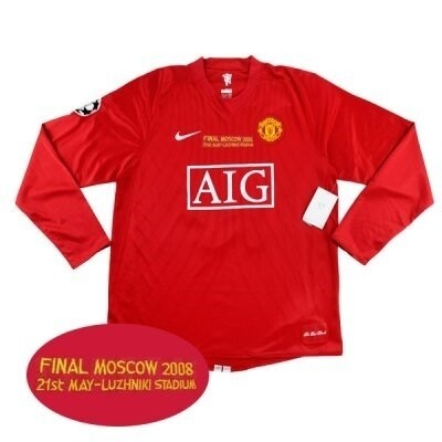 Manchester United Home UCL FINAL Long Sleeve Jersey