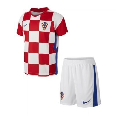 2021 Croatia Home Jersey Kids Kit