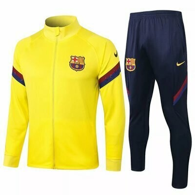 Barcelona Yellow Training Jacket Kit 20-21