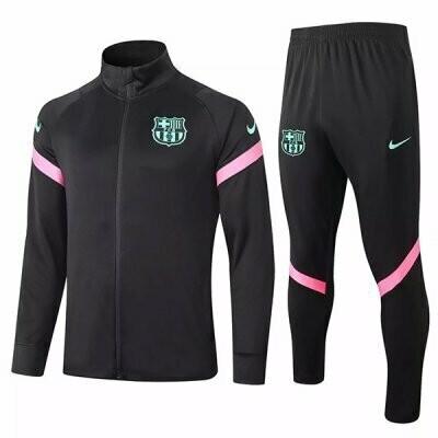 Barcelona Black Training Jacket Kit 20-21