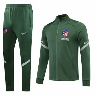 Atletico Madrid Green Training Jacket Kit 20-21