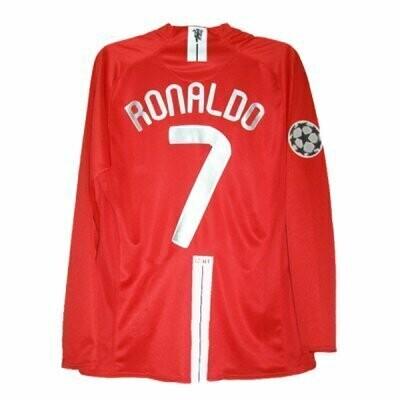 Manchester United Home UCL FINAL Long Sleeve RONALDO #7 Shirt 2007-2008
