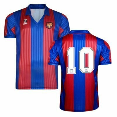 1991-1992 Barcelona Home Maradona Retro Jersey Print #10