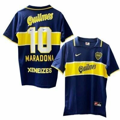 1997-1998 Boca Juniors Maradona #10 Home Jersey Shirt