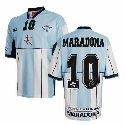 2001 Argentina Diego Maradona #10 Testimonial Shirt