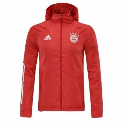 Bayern Munich Red Windrunner Hoodie Jacket 20-21