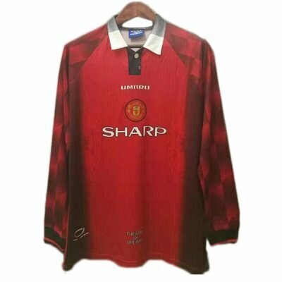 Manchester United Home Long Sleeve Jersey 1996-1998