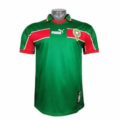 1998 Morocco Away Green Retro Jersey