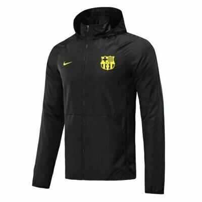 Barcelona All Black Windrunner Hoodie Jacket 20-21