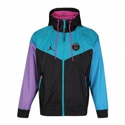 PSG x Jordan All Weather Windrunner Hoodie Jacket 20-21