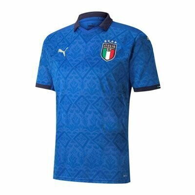 2020 Italy Home Blue Soccer Jersey Shirt