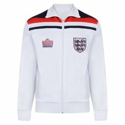 1982 England Home White Retro Jacket