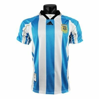 1998 Argentina Home Retro Jersey