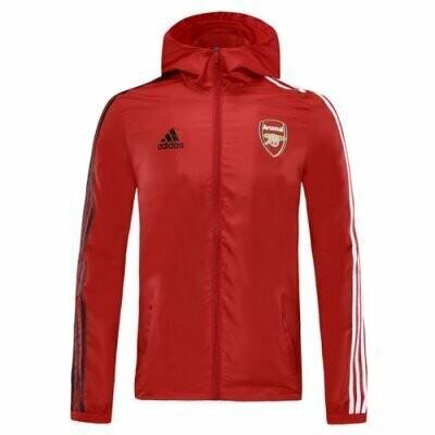 Arsenal Red Windrunner Hoodie Jacket 20-21
