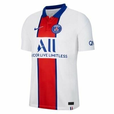 Paris Saint-Germain PSG Away White Soccer Jersey 20/21