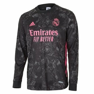 Real Madrid Third Long Sleeve Soccer Jersey 20-21