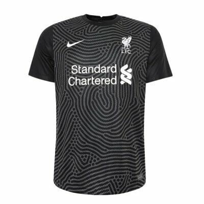 Liverpool Home Goalkeeper Soccer Jersey Black 20-21