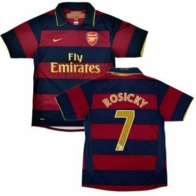 Arsenal Home  #7 Rosicky Retro Jersey 2007-08 (Replica)