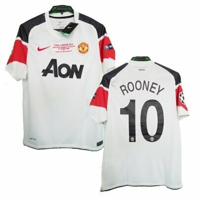 Manchester United Away UCL Final ROONEY #10 Shirt 2010-11 (Replica)