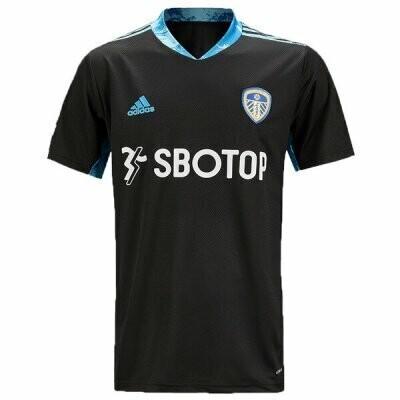 Leeds United Home Black Goalkeeper Soccer Jersey 20/21