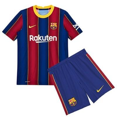 Barcelona Home Soccer Jersey Kids Kit 20/21