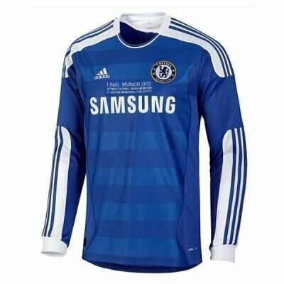 2011-12 Chelsea Home Championship League Final Retro Long Sleeve Jersey Shirt (Replica)