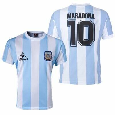 1986 Argentina Home Soccer Jersey Shirt Maradona #10 (Replica)