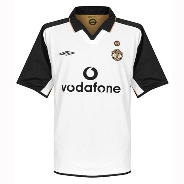 Manchester United Centenary Away White Jersey 2001-02 (Replica)