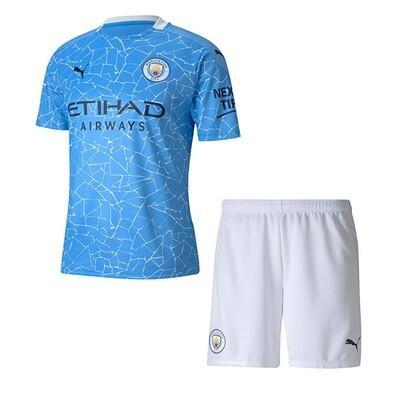Manchester City Home Soccer Jersey Kids Kit 20/21