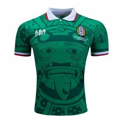 1998 ABA Home Retro Mexico World Cup Home Jersey (Replica)