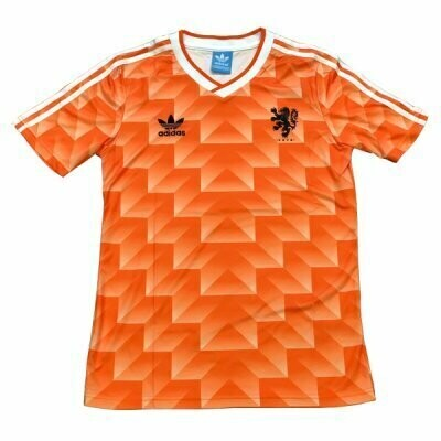 1988 Holland Home Soccer Jersey (Replica)