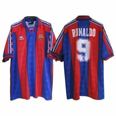 1996-1997 RONALDO FC Barcelona Retro Jersey Shirt #9 (Replica)