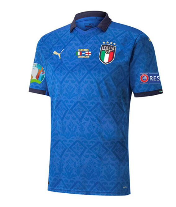 2020 Italy Home Euro Cup Final Shirt (Fans Version)