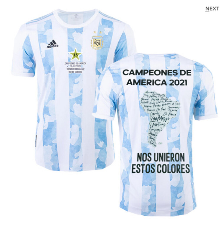 2021 Argentina Copa America 15th Title Shirt(Player Version)