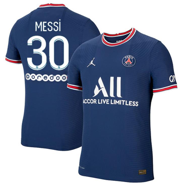 Paris Saint-Germain PSG Home Messi #30 Ligue 1 Jersey (Player version)