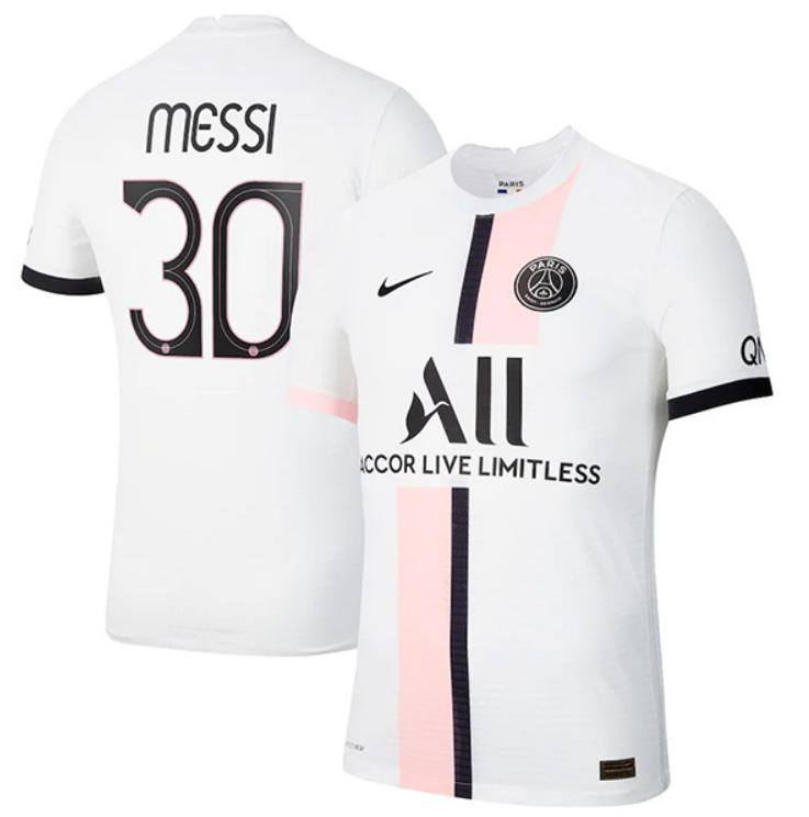Paris Saint-Germain PSG Away Messi #30 Champion League Jersey (Player version)