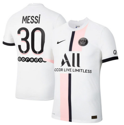 Paris Saint-Germain PSG Away Messi #30 Ligue 1 Jersey (Player version)
