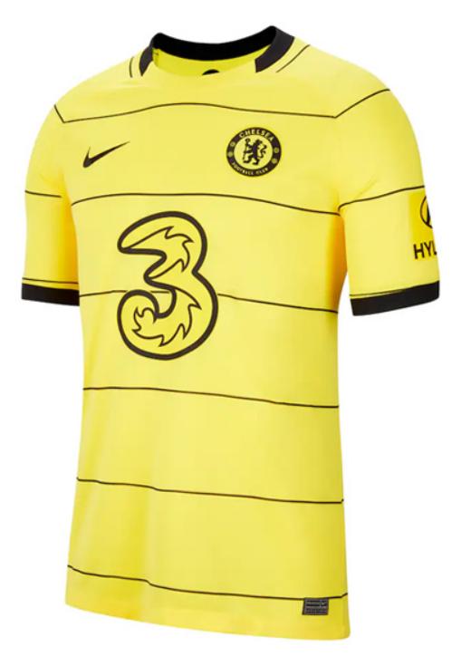 Chelsea Away Yellow Soccer Jersey 21-22