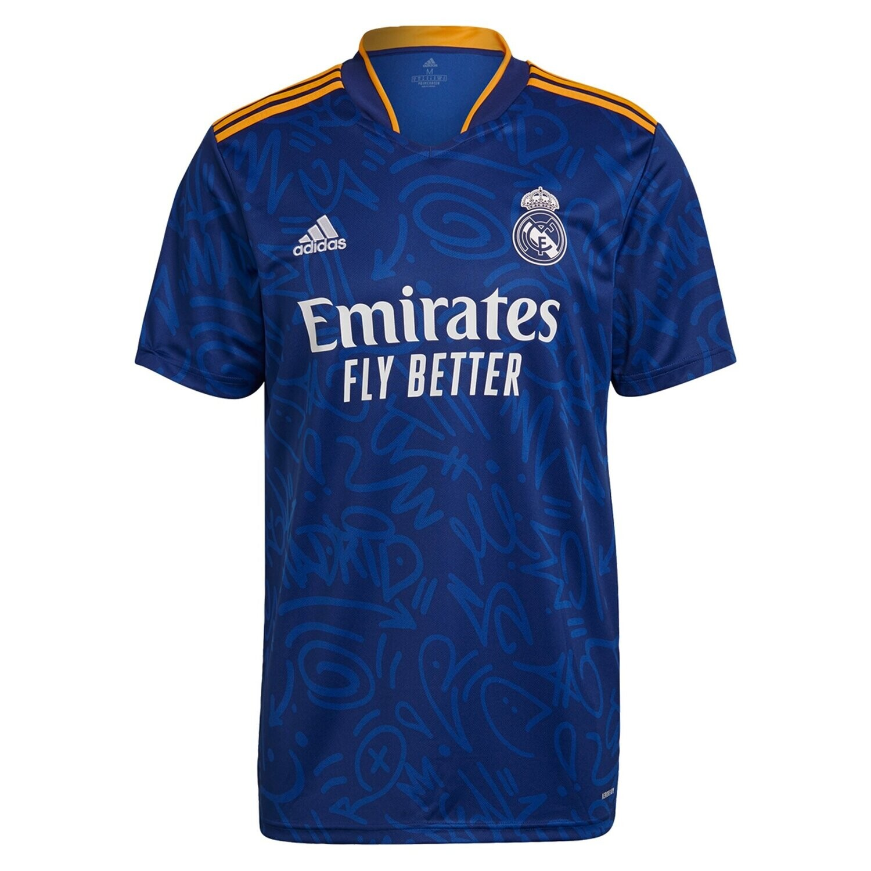 Real Madrid Away Blue Jersey Shirt 21-22