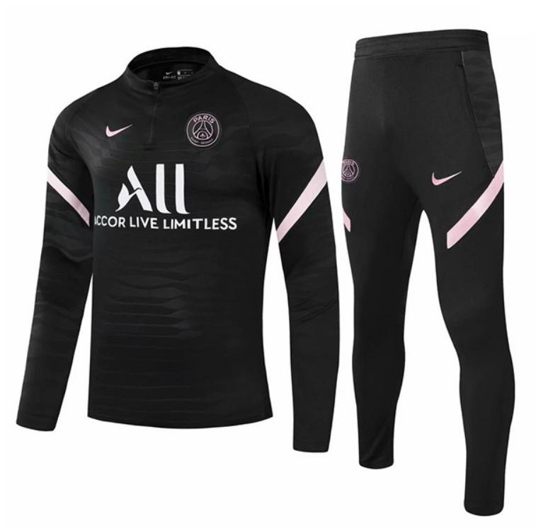 PSG Black Training Suit 21-22