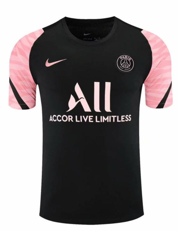 PSG Black Pink Sleeve training Jersey 21-22