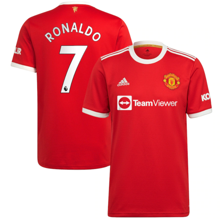 Manchester United Home Ronaldo #7 Red Soccer Jersey 21-22 (EPL Print)