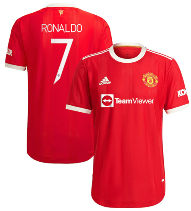 Manchester United Home RONALDO #7 Soccer Jersey 21-22 CUP Print(Player Version)