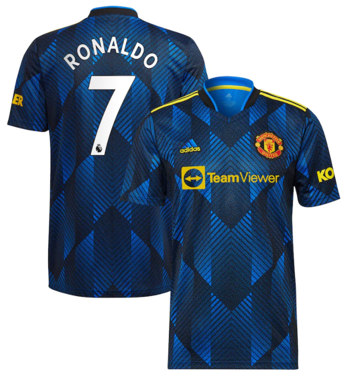 Manchester United RONALDO #7 Third Soccer Jersey 21-22(EPL Print)