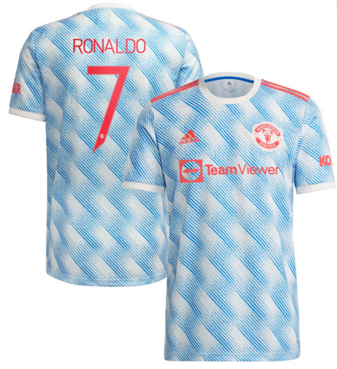 Manchester United RONALDO #7 Away Soccer Jersey 21-22(CUP Print)