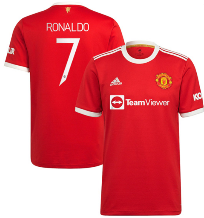 Manchester United Home Ronaldo #7 Red Soccer Jersey 21-22 (CUP Print)